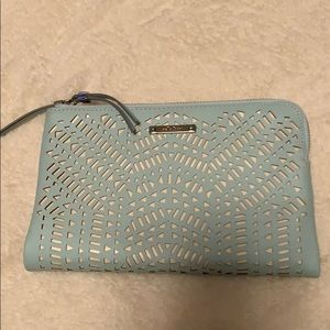 Beautiful mint green Stella & dot clutch.